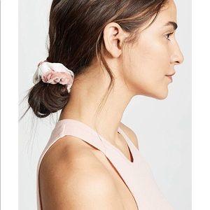 Pink velvet scrunchies 5 pack